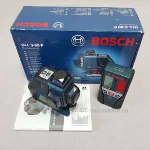 Нивелир Bosch GLL 3-80P + приёмник Bosch LR2